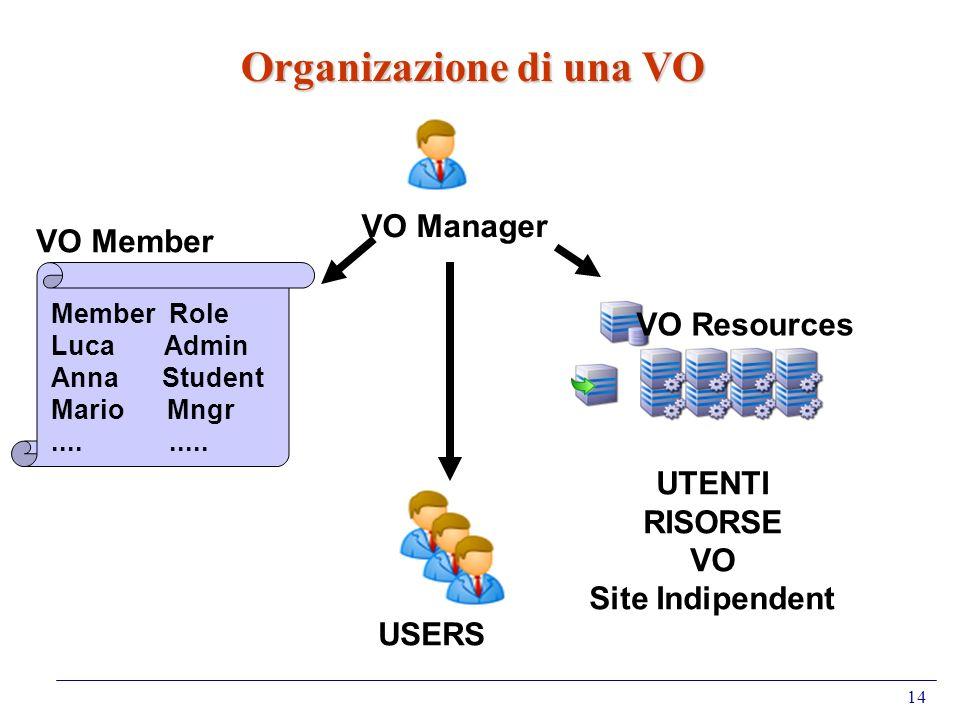 Organizazione di una VO