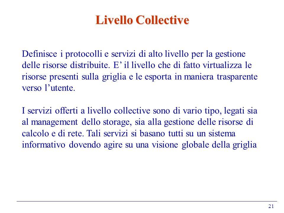 Livello Collective Definisce i protocolli e servizi di alto livello per la gestione.