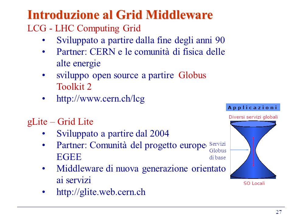 Introduzione al Grid Middleware