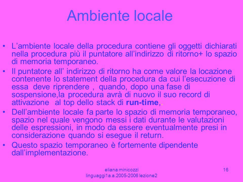 eliana minicozzi linguaggi1a.a.2005-2006 lezione2