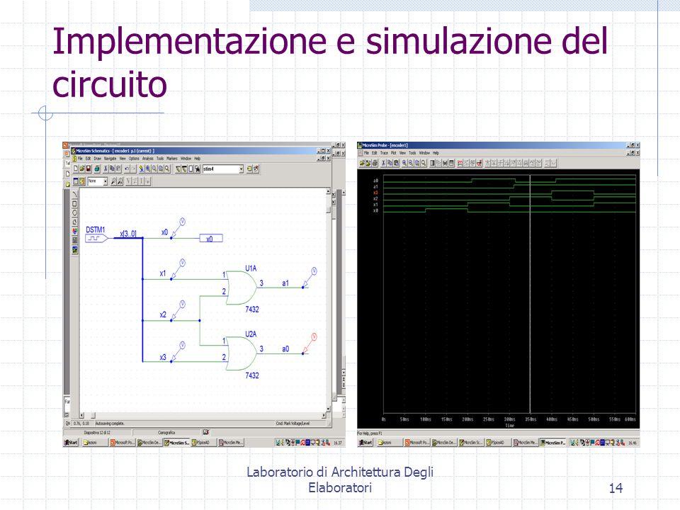 Implementazione e simulazione del circuito