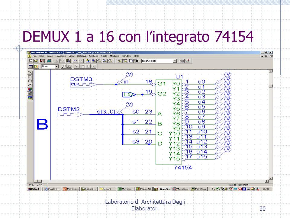 DEMUX 1 a 16 con l'integrato 74154