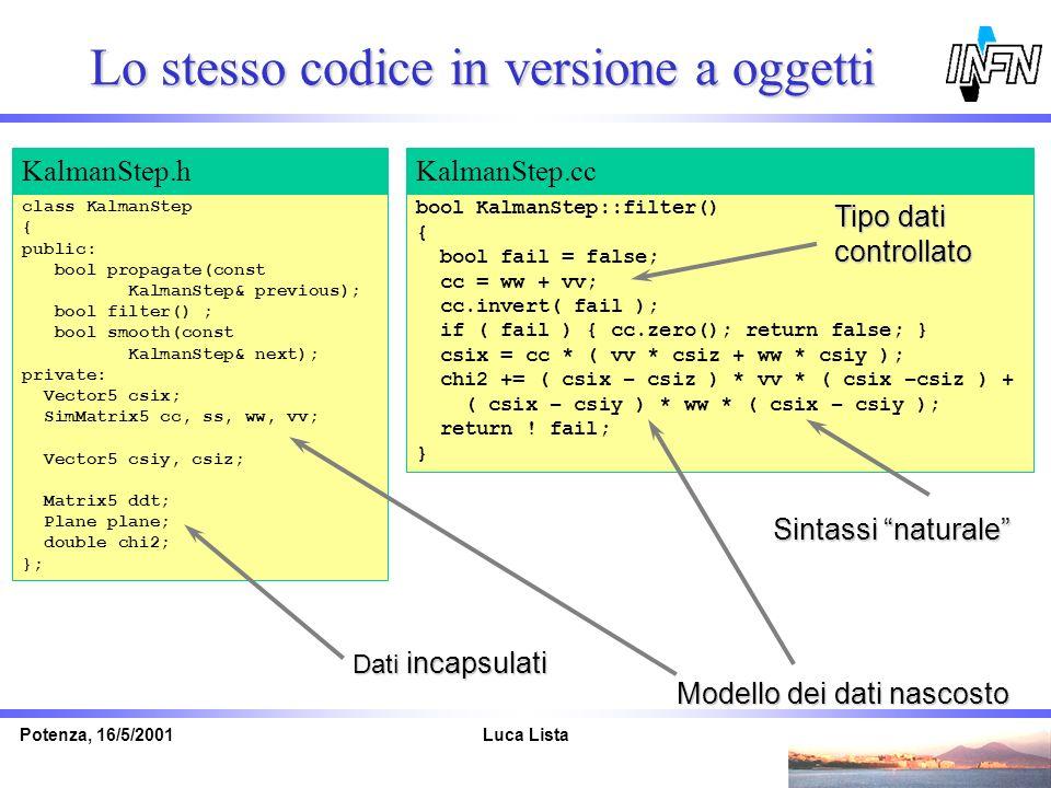 Lo stesso codice in versione a oggetti