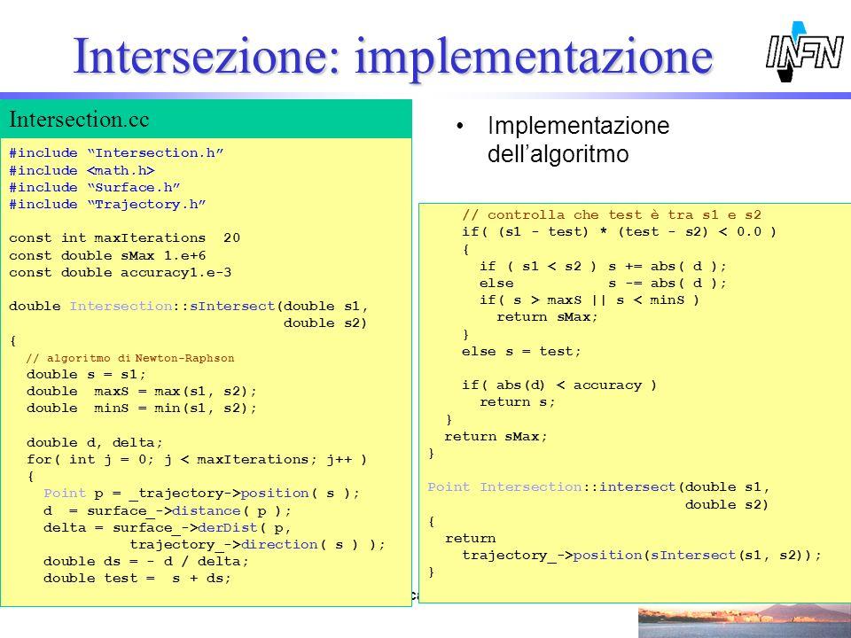 Intersezione: implementazione