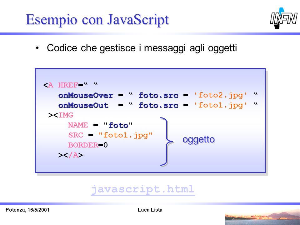 Esempio con JavaScript