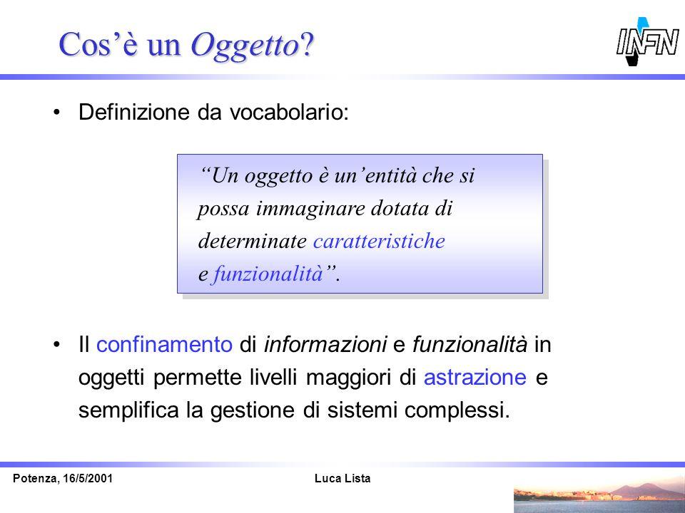 Cos'è un Oggetto Definizione da vocabolario: