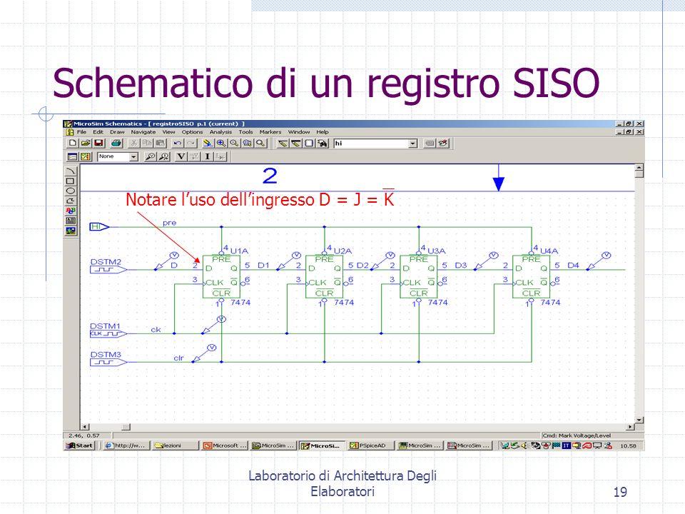 Schematico di un registro SISO