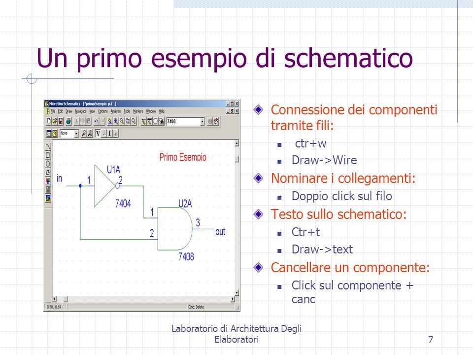 Un primo esempio di schematico