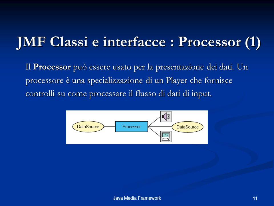 JMF Classi e interfacce : Processor (1)