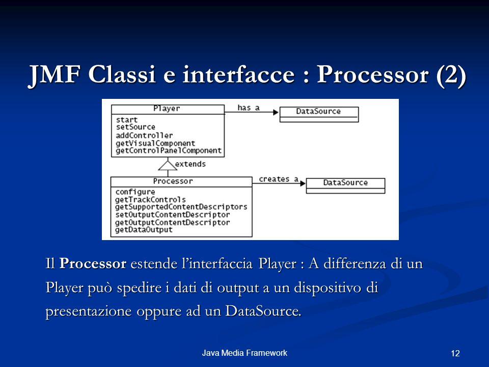 JMF Classi e interfacce : Processor (2)