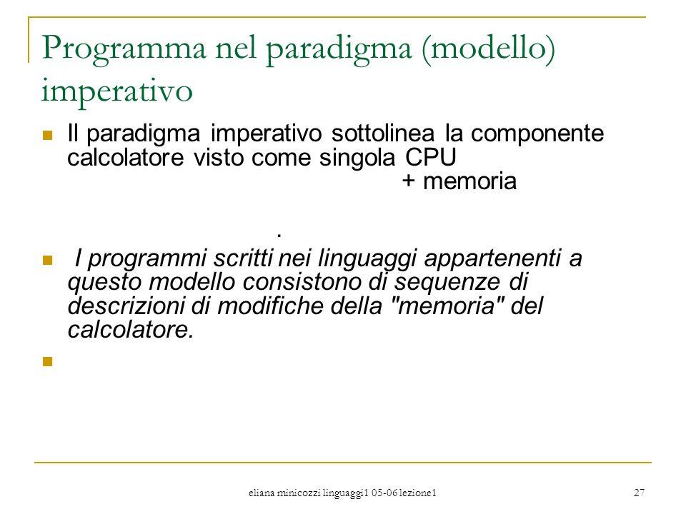 Programma nel paradigma (modello) imperativo