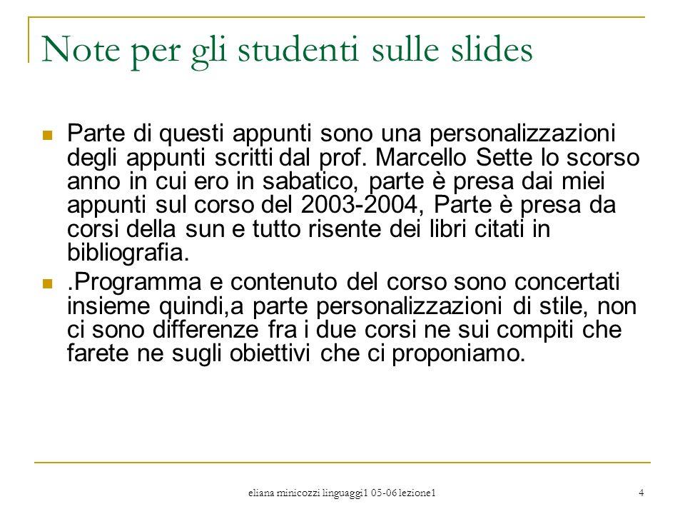 Note per gli studenti sulle slides