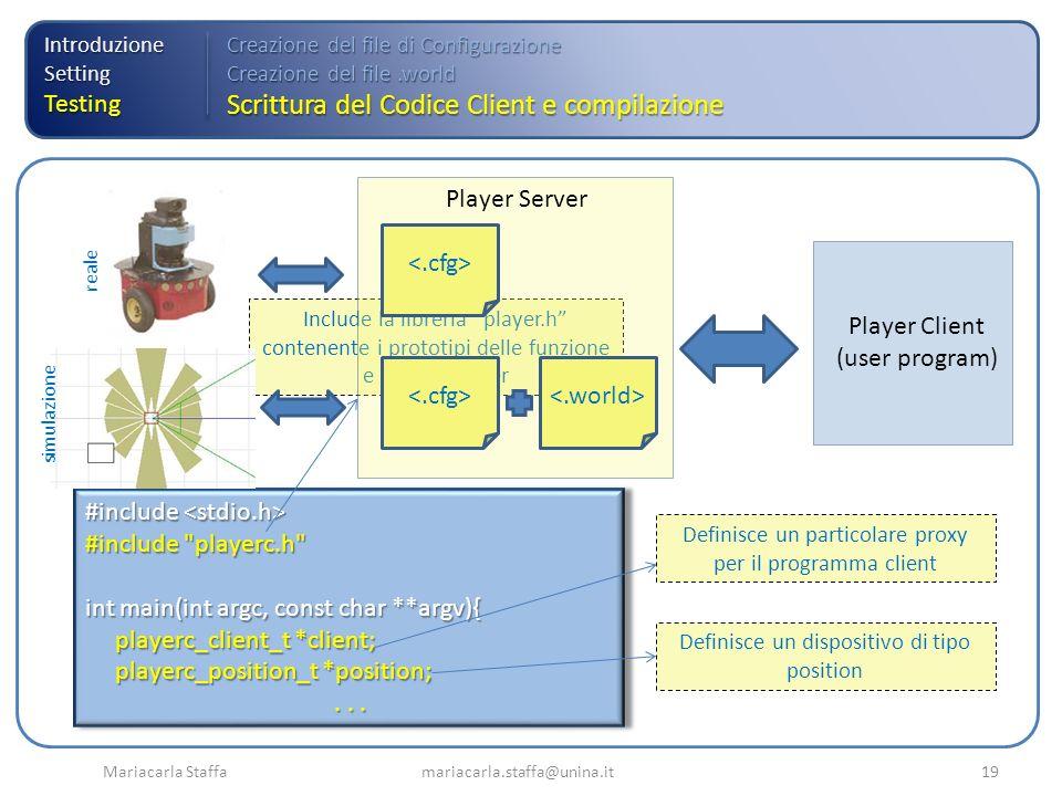 Scrittura del Codice Client e compilazione