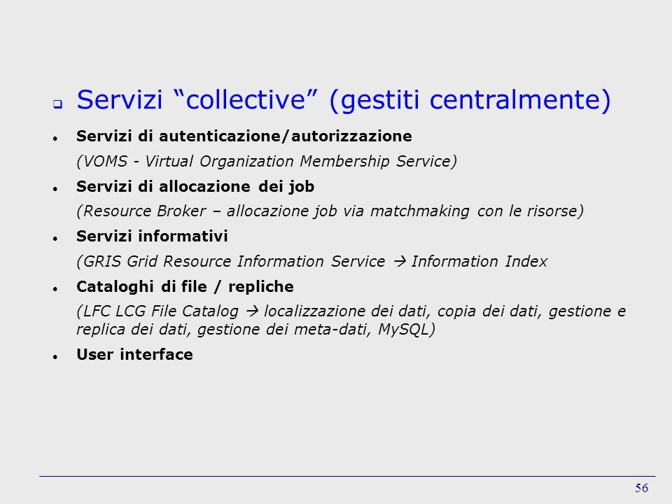 Servizi collective (gestiti centralmente)