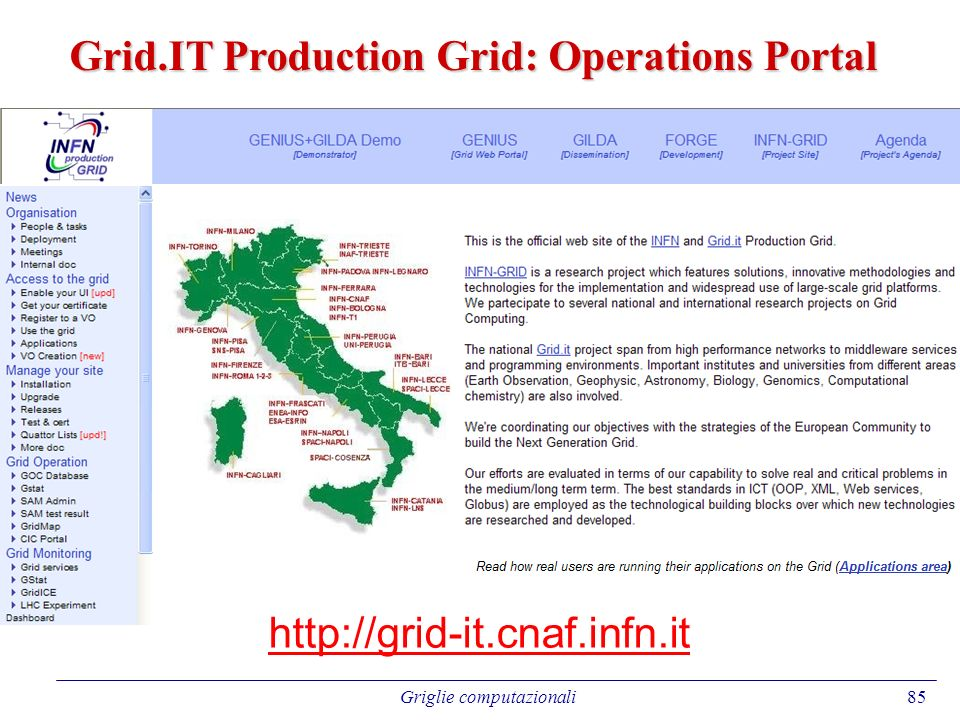 Grid.IT Production Grid: Operations Portal