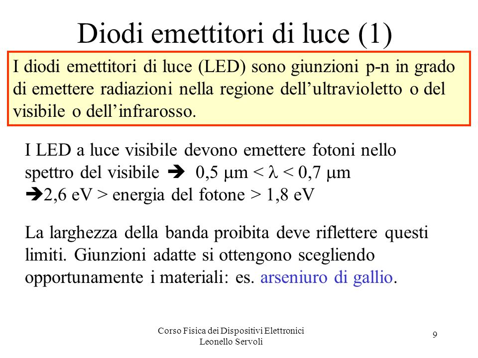 Diodi emettitori di luce (1)