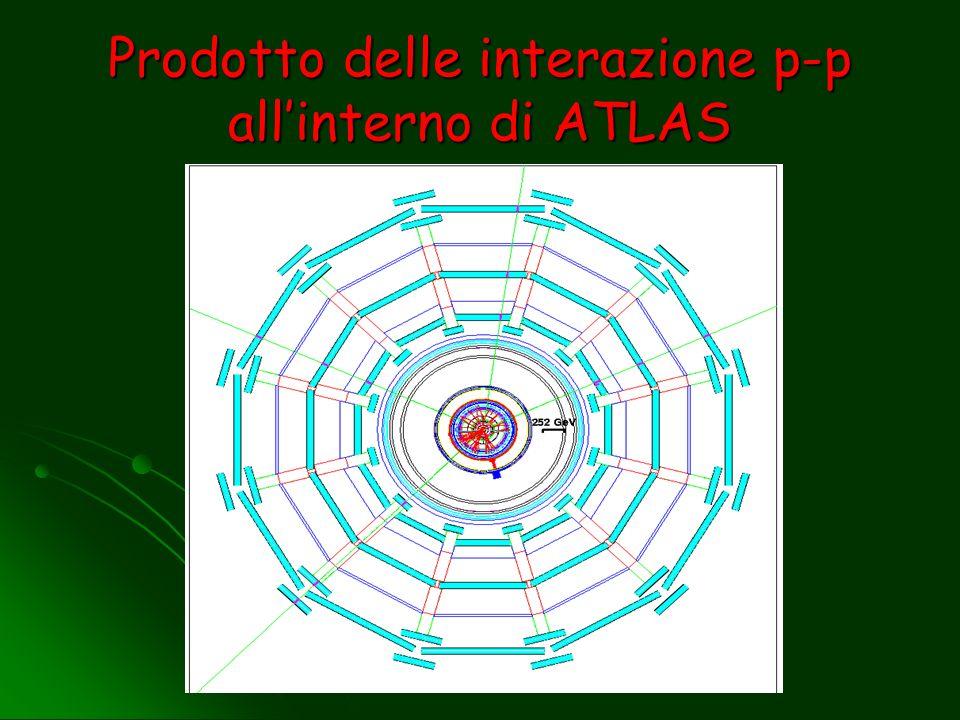 Prodotto delle interazione p-p all'interno di ATLAS