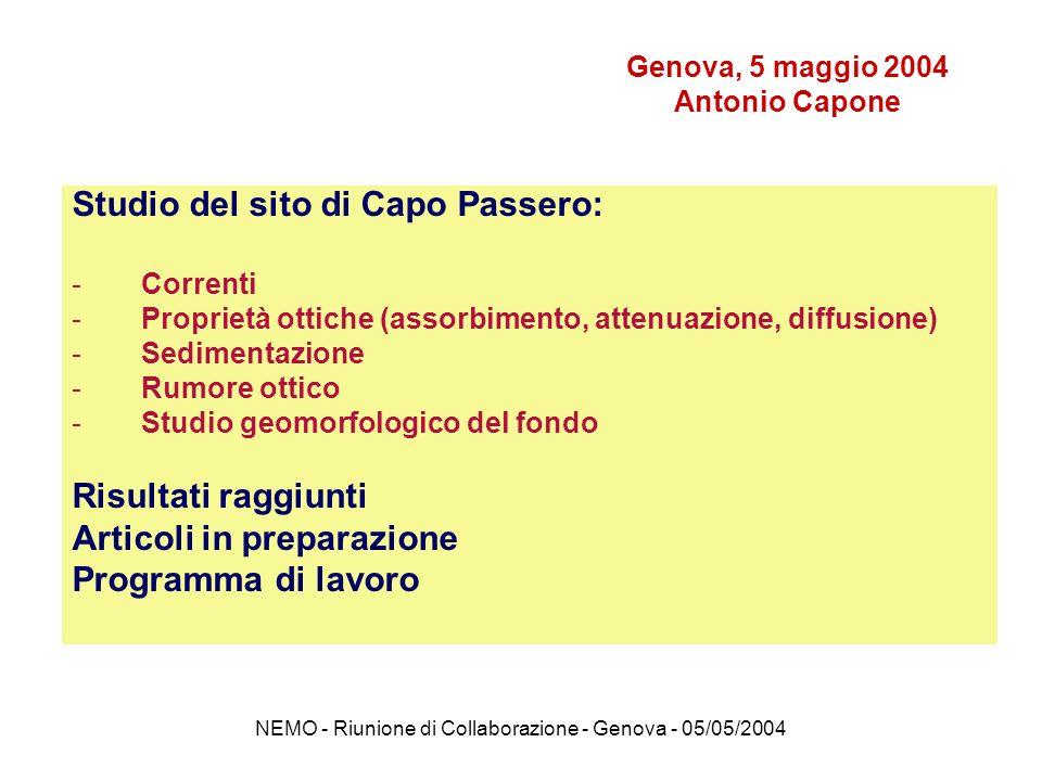Genova, 5 maggio 2004 Antonio Capone