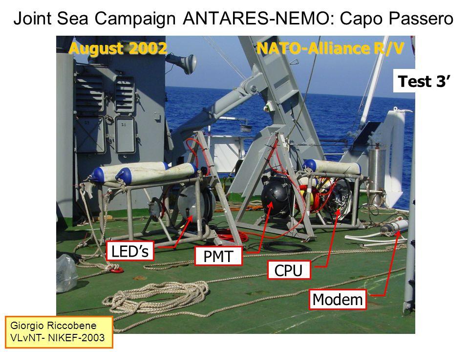 Joint Sea Campaign ANTARES-NEMO: Capo Passero