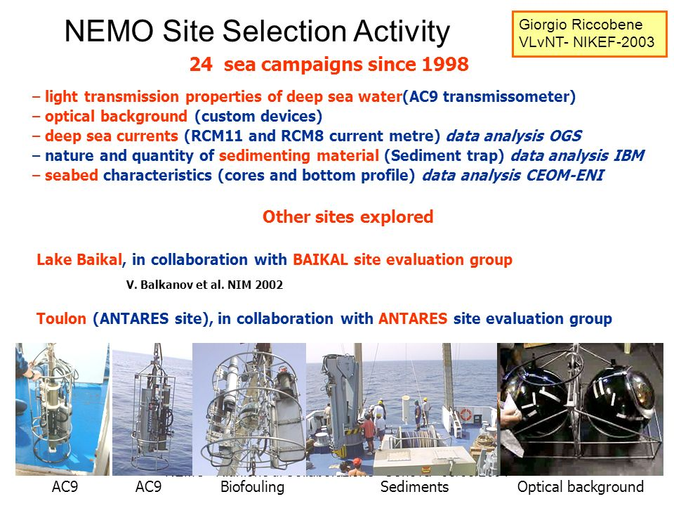 NEMO Site Selection Activity