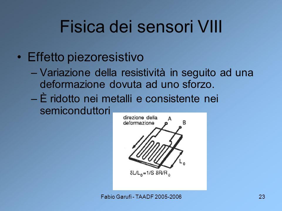 Fisica dei sensori VIII