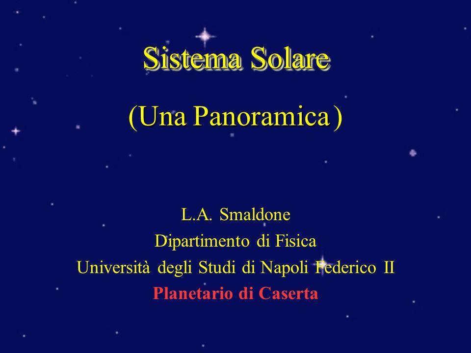 Sistema Solare (Una Panoramica ) L.A. Smaldone Dipartimento di Fisica