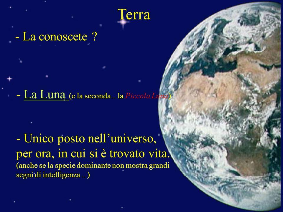 Terra - La conoscete - La Luna (e la seconda .. la Piccola Luna)