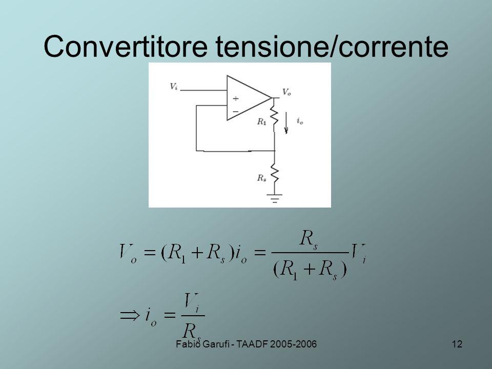 Convertitore tensione/corrente