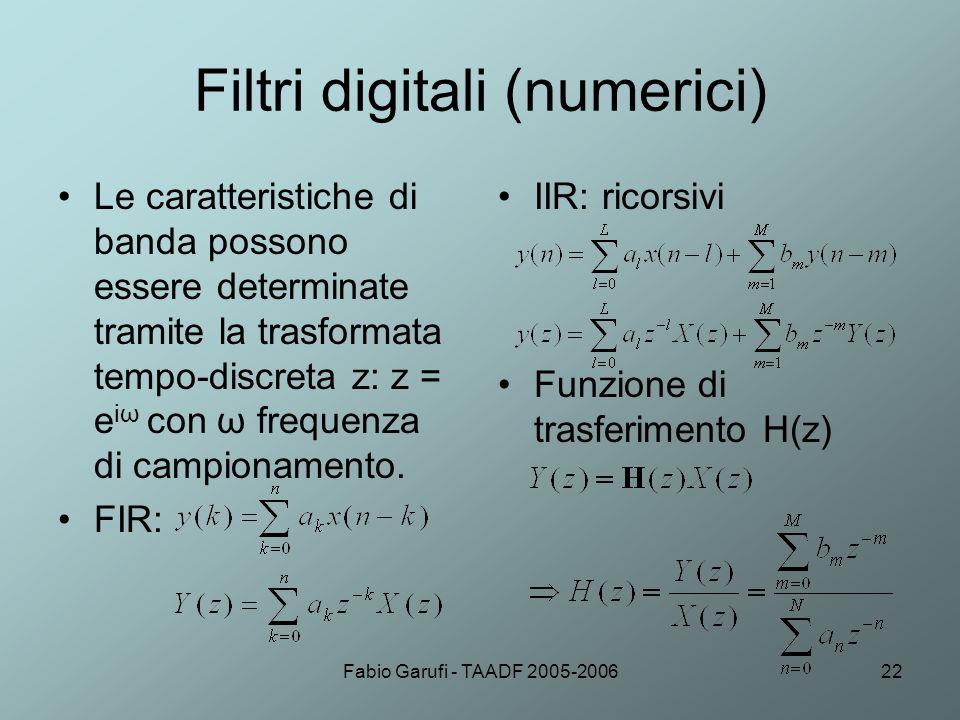 Filtri digitali (numerici)