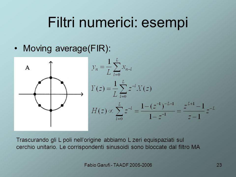 Filtri numerici: esempi