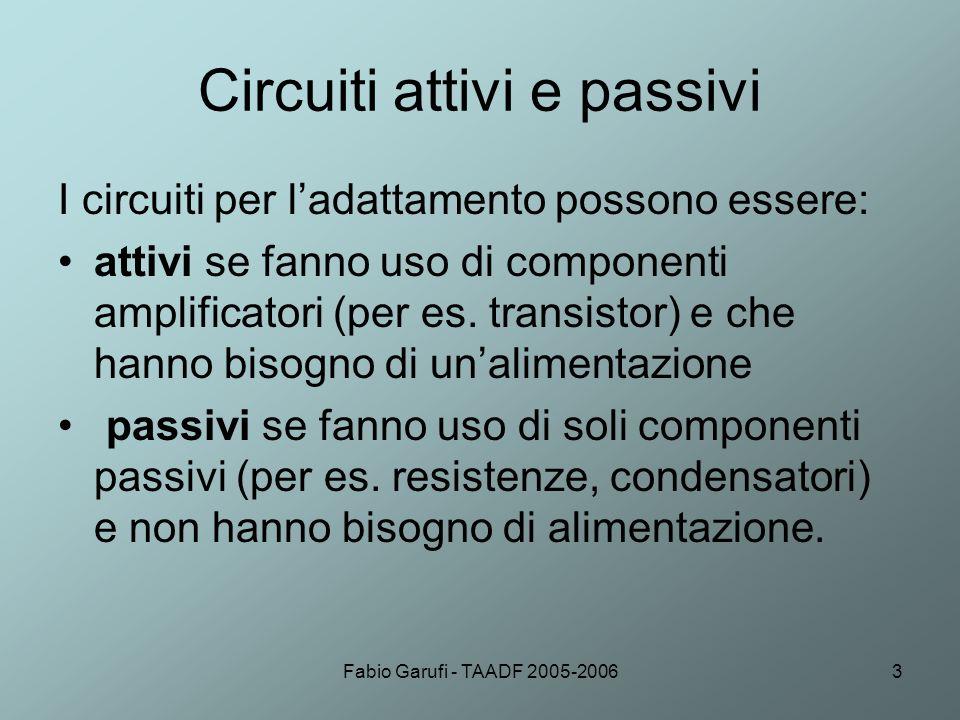 Circuiti attivi e passivi