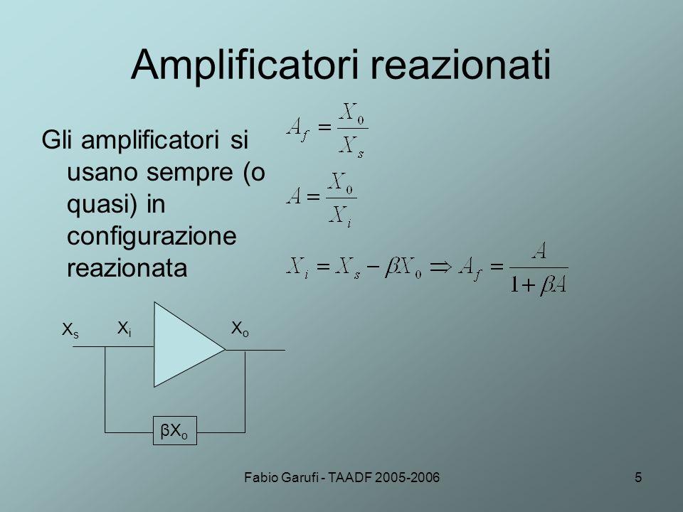 Amplificatori reazionati