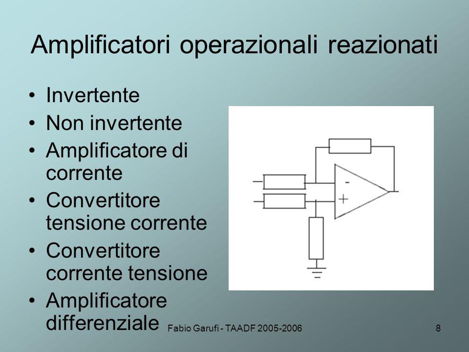 Amplificatori operazionali reazionati