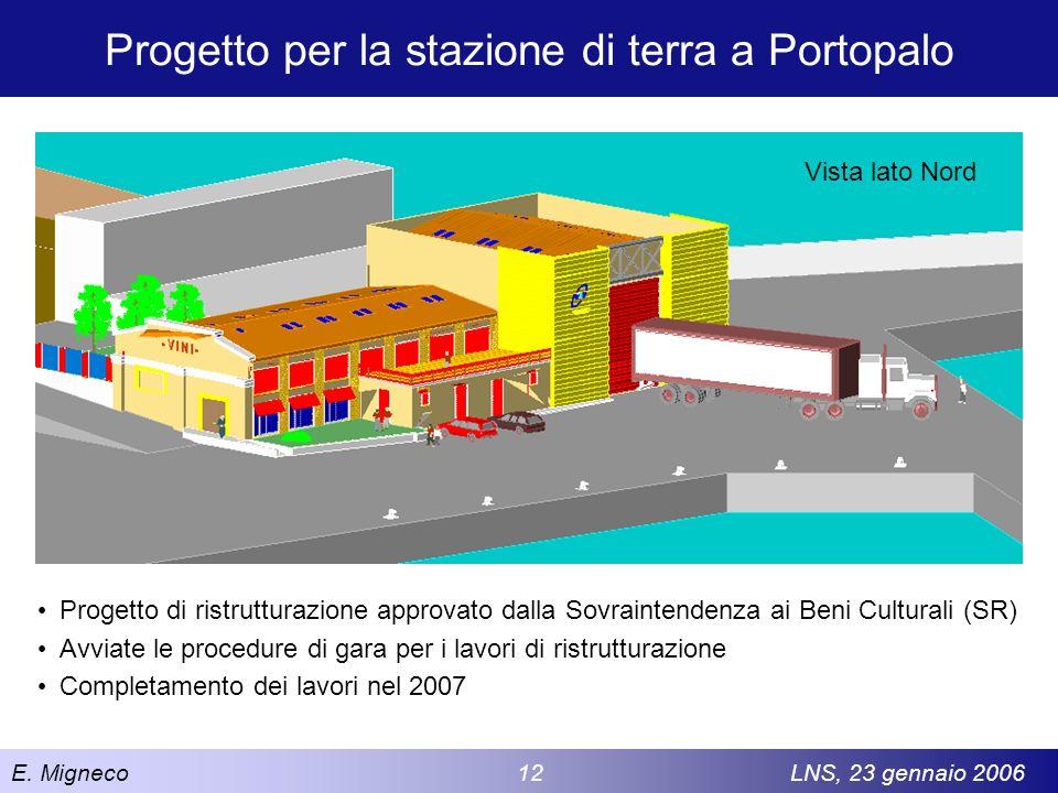 Progetto per la stazione di terra a Portopalo