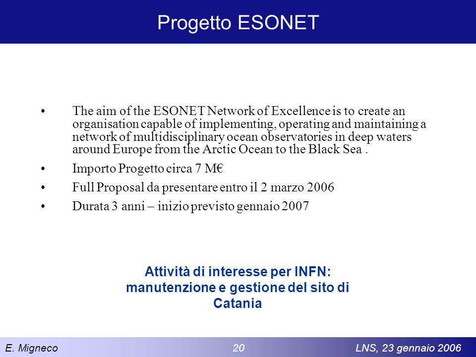 Progetto ESONET