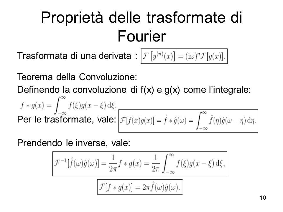 Proprietà delle trasformate di Fourier