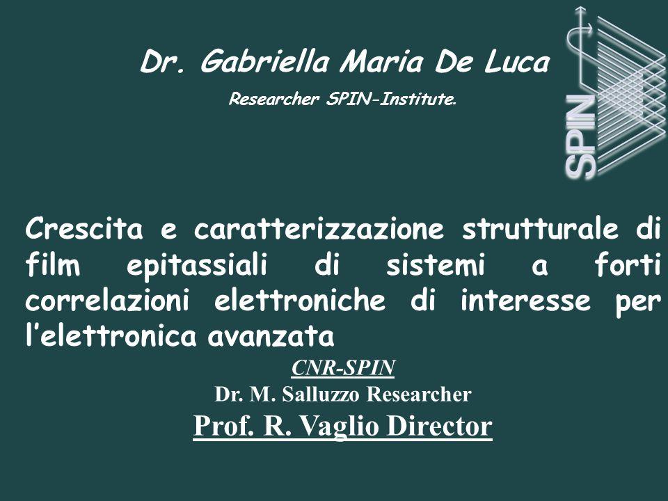 Dr. Gabriella Maria De Luca