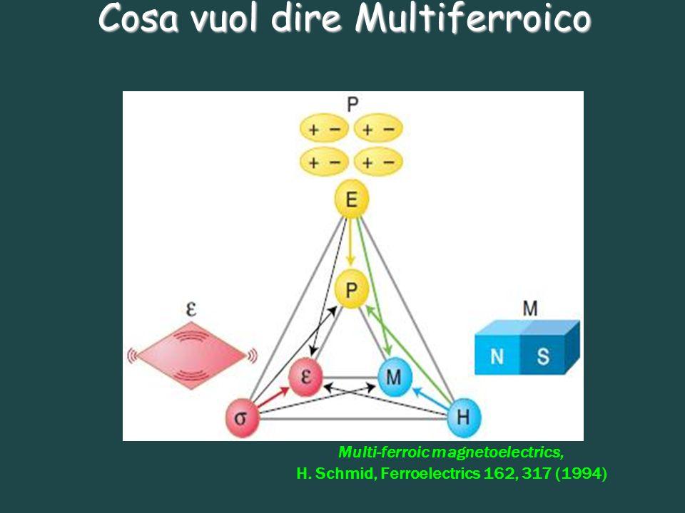 Cosa vuol dire Multiferroico
