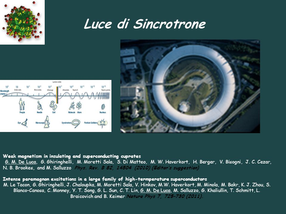 Luce di SincrotroneWeak magnetism in insulating and superconducting cuprates.
