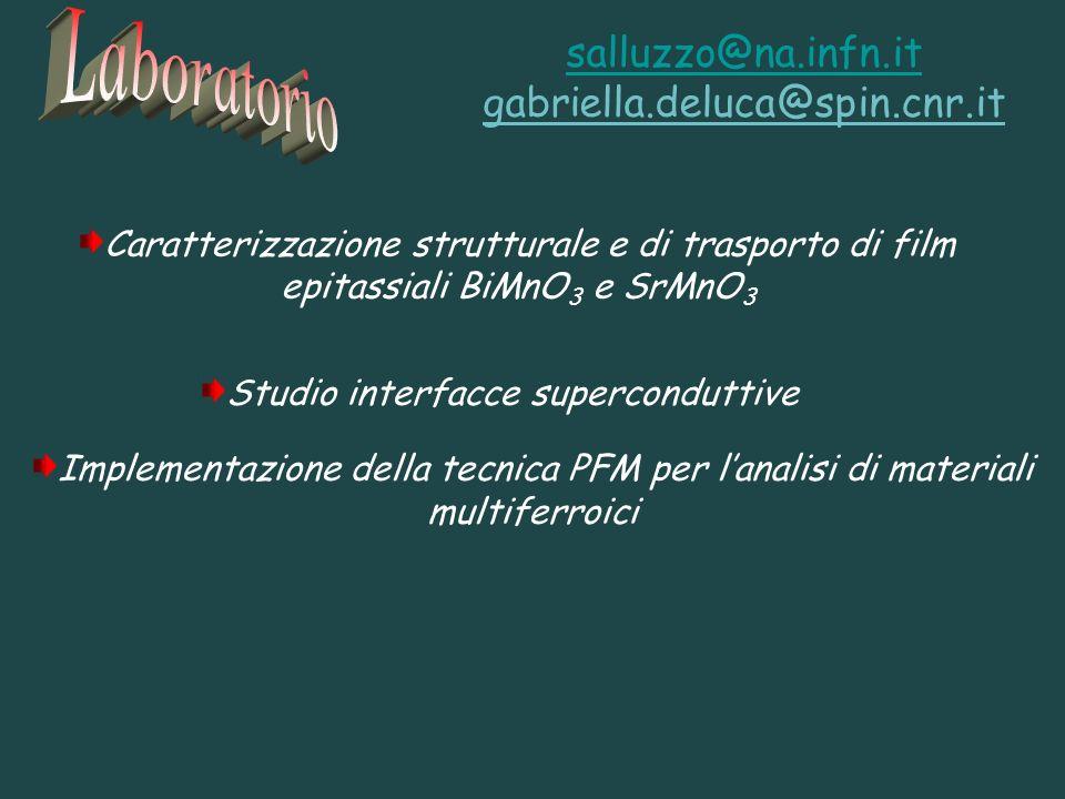 Studio interfacce superconduttive