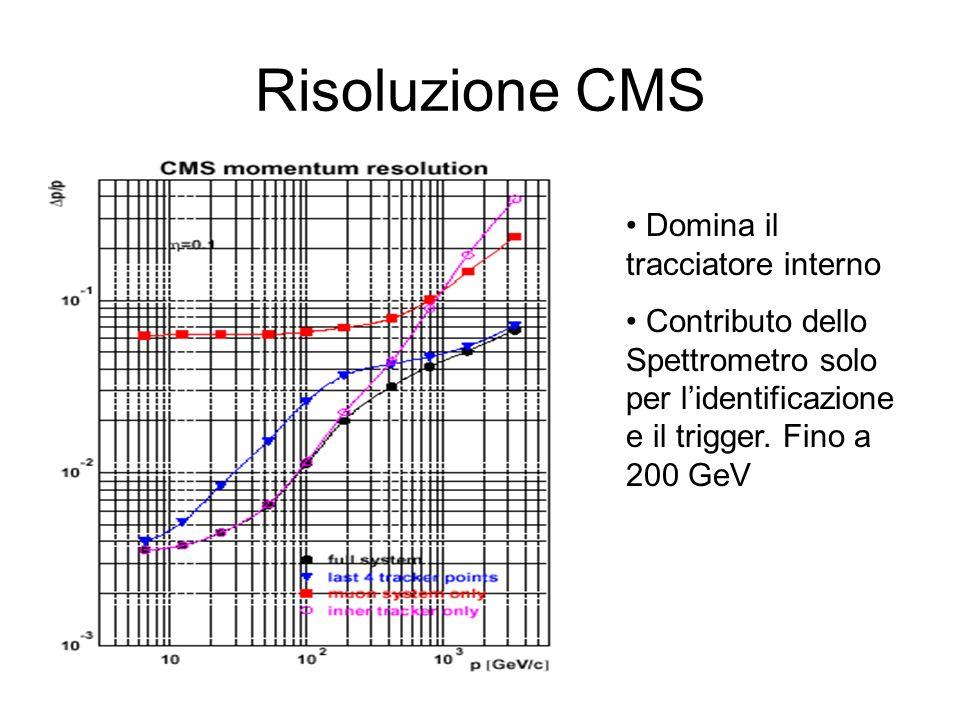 Risoluzione CMS Domina il tracciatore interno