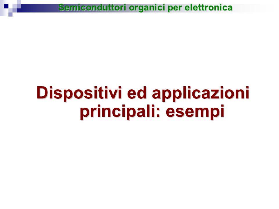 Dispositivi ed applicazioni principali: esempi