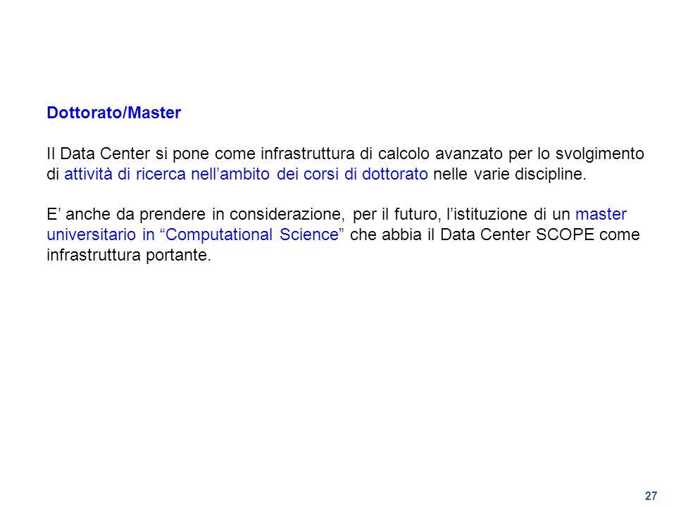 Dottorato/Master