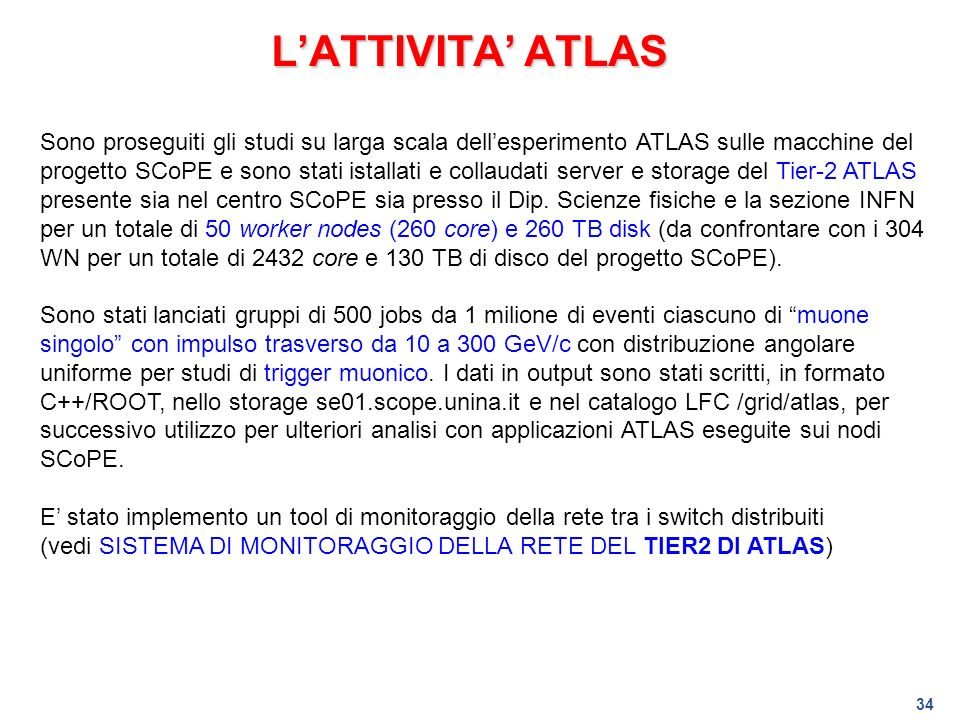 L'ATTIVITA' ATLAS