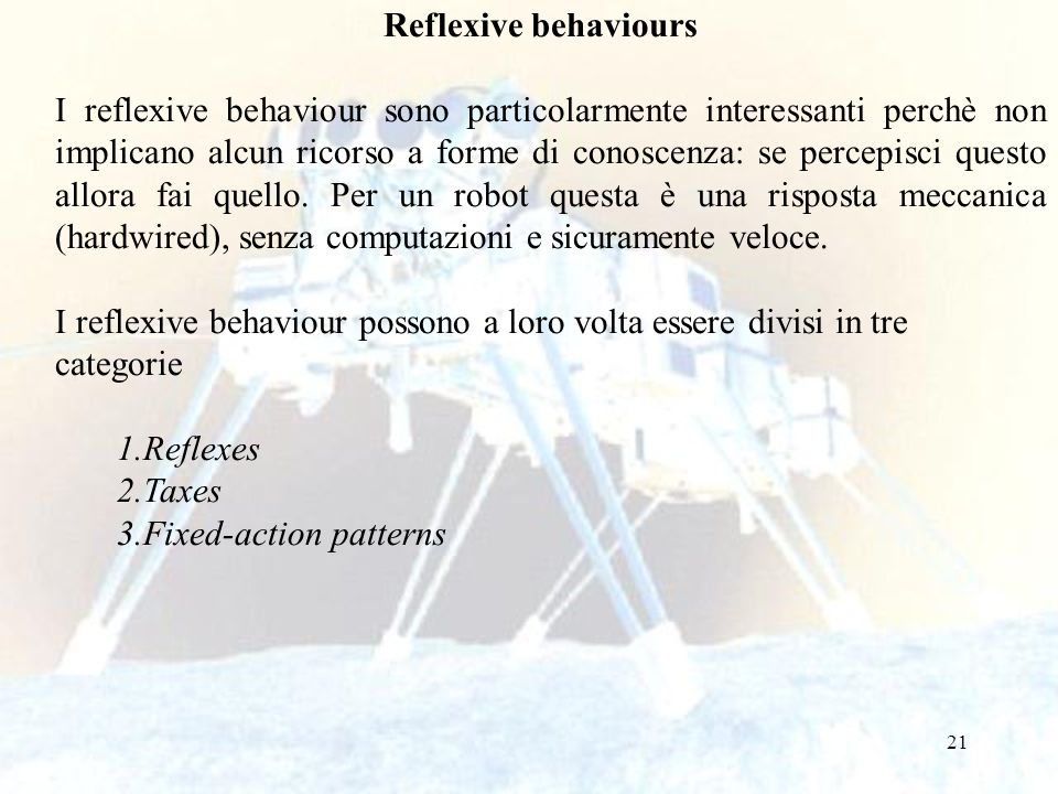 Reflexive behaviours