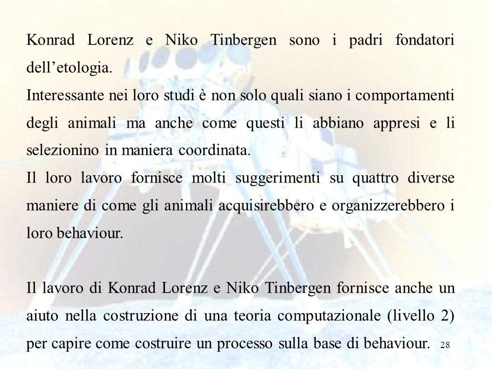 Konrad Lorenz e Niko Tinbergen sono i padri fondatori dell'etologia.