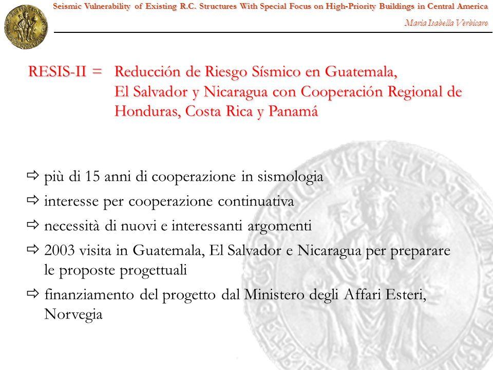 RESIS-II = Reducción de Riesgo Sísmico en Guatemala,