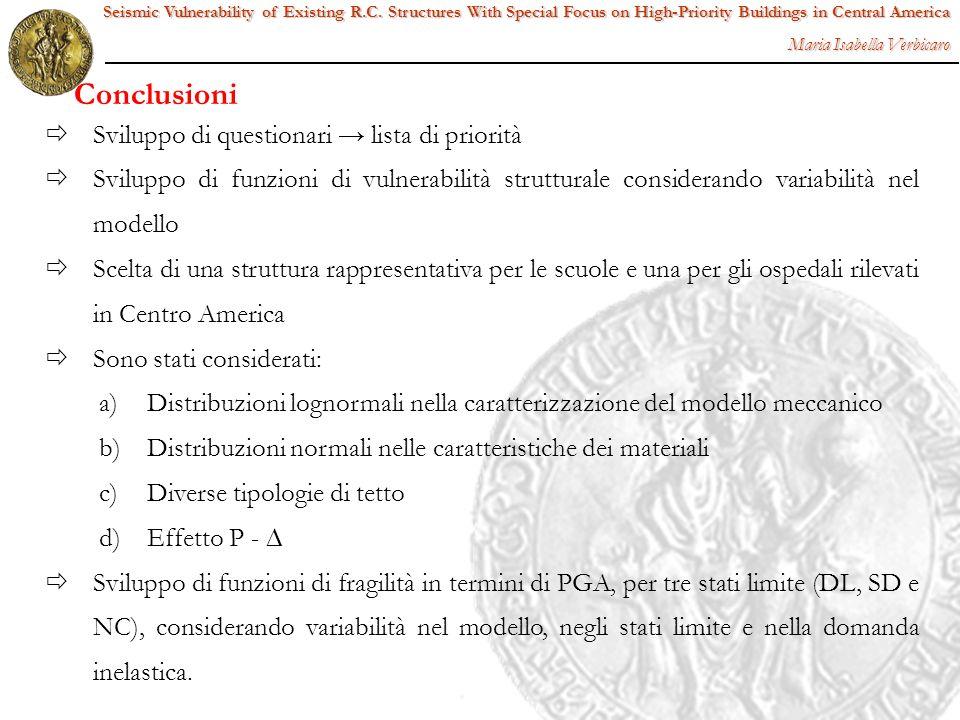 Conclusioni Sviluppo di questionari → lista di priorità