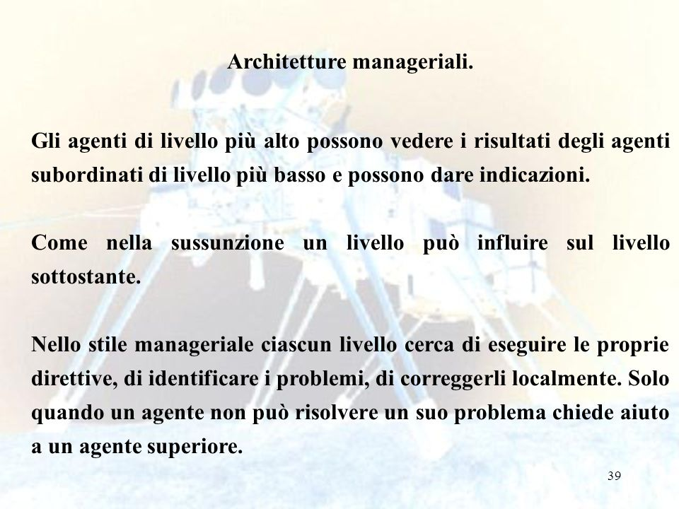 Architetture manageriali.