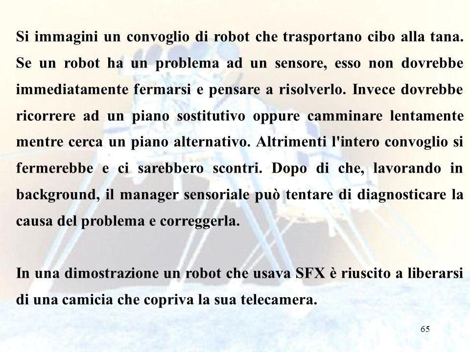 Si immagini un convoglio di robot che trasportano cibo alla tana